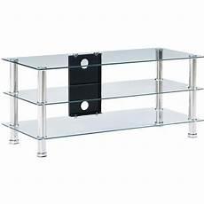 tv tisch glas tv tisch geh 228 rtetes glas transparent 90x40x40cm