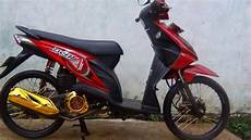 Modifikasi Beat Jari Jari by Modifikasi Motor Honda Beat Merah Putih Velg 17