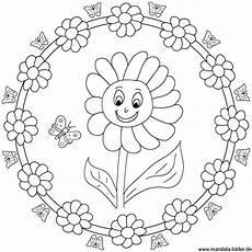 Malvorlagen Mandalas Kindergarten Sonnenblume Mandala Malvorlage Zum Ausdrucken Mandala