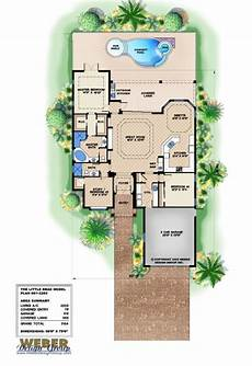 mediterranean house plans with pools mediterranean house plan narrow lot florida home floor