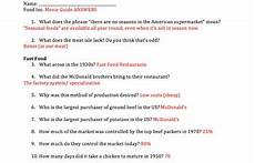 food inc movie guide answers by mrs history teachers
