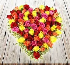 Buy 70 Mix Colour Roses Bouquet Get Same Day