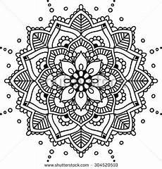 mandala coloring pages hd 17924 simple floral mandala black on the white background mandala sencilla mandalas flores mandalas