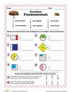 introduction to fractions worksheet education com
