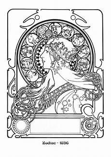 alfons mucha s nouveau works mucha coloring