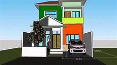 Desain Rumah 7 X 12 M Dengan 3 Kamar 2 Lantai Sederhana