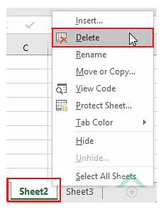 delete an excel worksheet excel vba