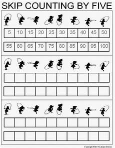 lilliput station skip counting worksheets for 2 s and 5 s freebie