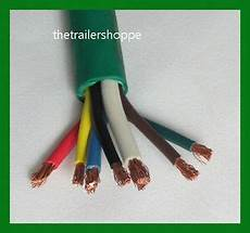 heavy duty trailer wire diagram 7 trailer light cable wiring harness 7 wire jacketed green heavy duty abs ebay