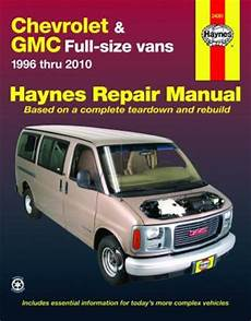 car owners manuals free downloads 2012 gmc savana 3500 auto manual chevrolet express gmc savana full size vans haynes repair manual 1996 2010 hay24081