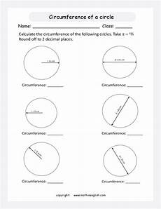 calculate the circumference of circles given the radius and diameter