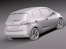 Kia Venga 2016 3d Model Max Obj 3ds Fbx C4d Lwo Lw
