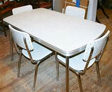 Vintage Kitchen Dinette Sets by Vintage 1950s Kitchen Dinette Set Table 4 Chair Silver