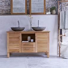 waschtischunterschrank für aufsatzwaschbecken holz kauf teak badm 246 beln soho duo bei tikamoon