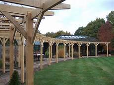 traditional oak pergola with curved beams oxford oak blog