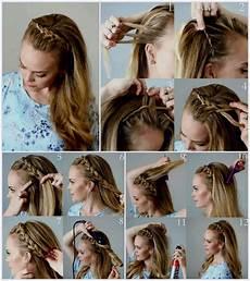 frisuren lange haare geflochten und offen