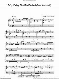 handel ev ry valley shall be exalted from messiah sheet music easy for piano solo