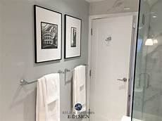 bathroom with porcelain marble tile paint color similar to benjamin stonington gray