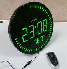 large big screen remote led digital wall clock light