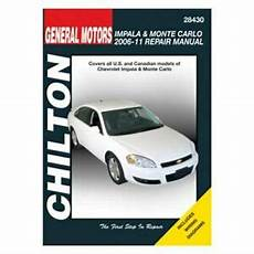 motor auto repair manual 2001 chevrolet impala on board diagnostic system for chevy impala 06 11 chilton general motors impala monte carlo repair manual ebay
