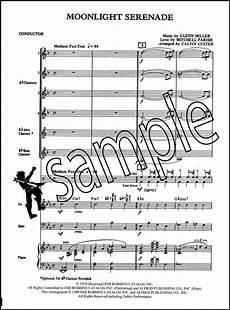 moonlight serenade for clarinet choir score parts sheet