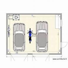 longueur garage 2 voitures garage 2 voitures plan 1 pi 232 ce 43 m2 dessin 233 par hclerc