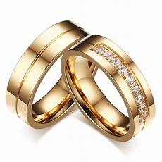aliexpress com buy aaa cubic zirconia couple ring gold color ring for man titanium