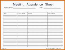 attendance sheet template the meeting should start out with a review of the former shift for