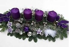 adventskranz adventsgesteck frisch lila silber gro 223 e