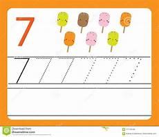 learning numbers worksheets 18743 handwriting practice learning numbers with characters number seven educational printable