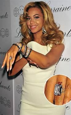 beyonc 233 removing z wedding ring tattoo singer s