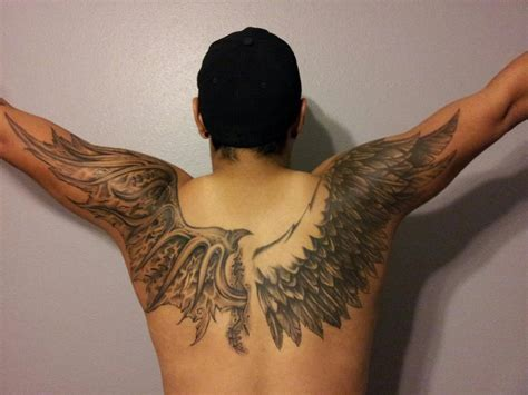 Angel Wings Tattoo Full Back