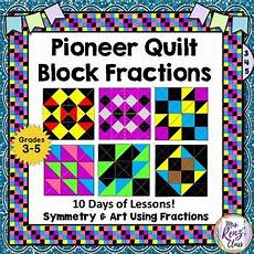 fraction quilts worksheets 4073 quilt block fractions to reinforce oregon trail and symmetry also smart board
