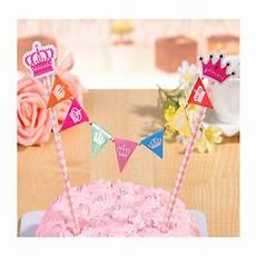 bunting style happy birthday cake topper decoration for birthday party uk seller ebay
