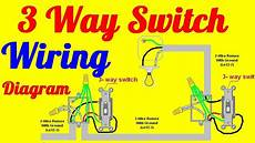 3 way switch wiring diagrams how to install youtube