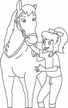 bibi und tina ausmalbilder pferde 01 ausmalbilder