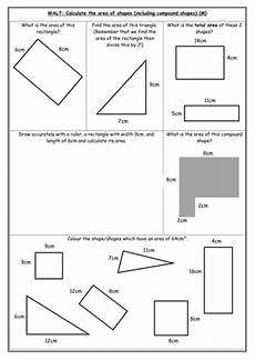 shapes areas worksheets 1036 area differentiated worksheets teaching resources