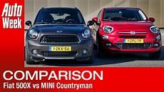 fiat 500x vs mini countryman subtitled