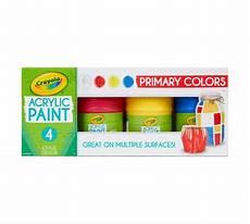 acrylic paint primary colors 4 count crayola com crayola