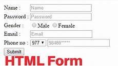 how to create registration form in html easy 2017