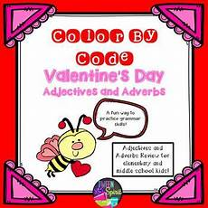 s day adjectives worksheets 20304 s day adjectives adverbs practice color by code adverbs adverbs worksheet