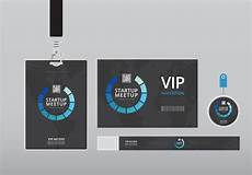 vip name card template vip pass id card template realistic blank vertical id