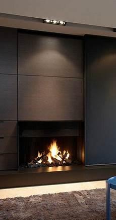 Kaminofen Design Modern - contemporary masculine minimalist interior