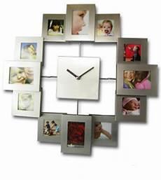 horloge murale avec cadre pour photos