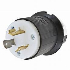 hubbell wiring hbl2331 3 wire 2 pole extra heavy duty locking plug 277 volt ac 20 black