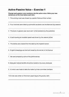 change from active to passive voice worksheet 8 free esl active to passive voice worksheets