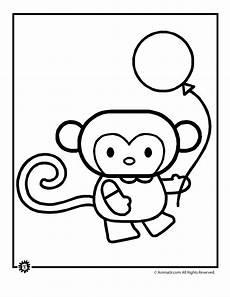 Malvorlagen Tiere Affen Animal Coloring Page Monkey Woo Jr Activities