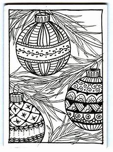 christmas ornaments zentangle by plain jane cards and