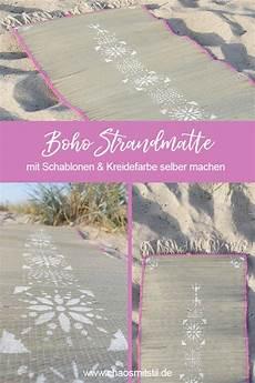 Diy Boho Strandmatte Mit Schablonen Und Kreidefarbe Selber