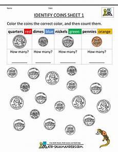 homeschool worksheets money 2171 kindergarten printable worksheets identify coins 1 gif 800 215 1035 kindergarten money